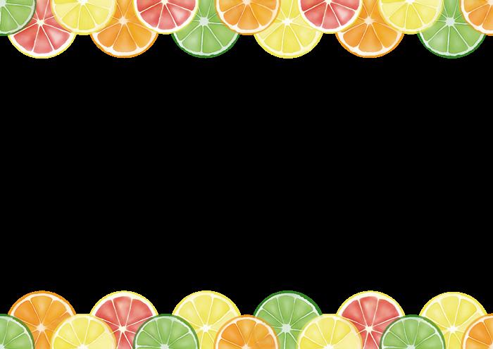 柑橘類の輪切りイラスト素材