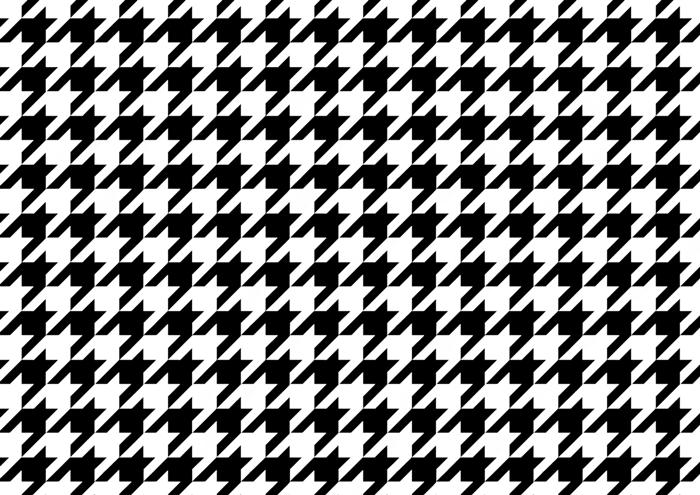 白の千鳥格子の線画素材