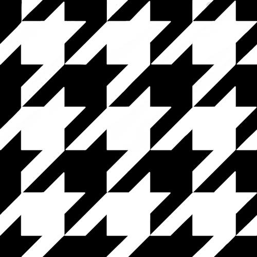 千鳥格子の白色の線画素材