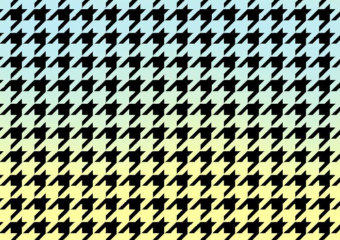 水色と黄色のグラデーションの千鳥格子の素材