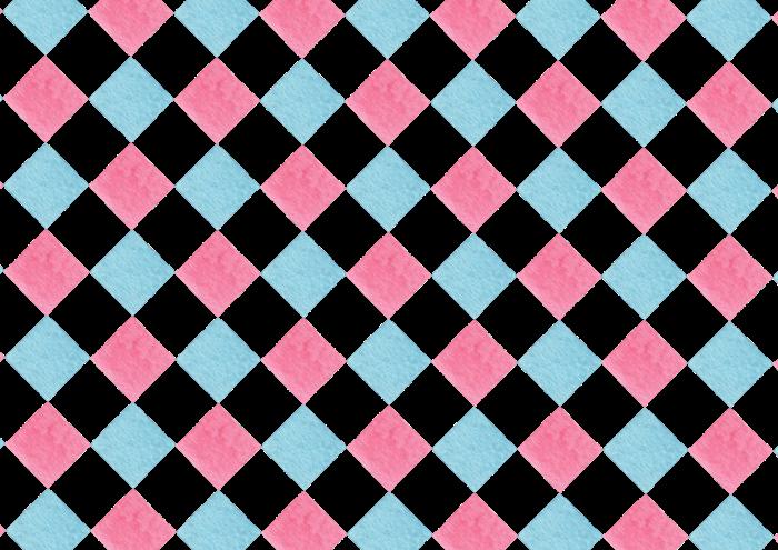 ピンクと水色のひし形の背景素材