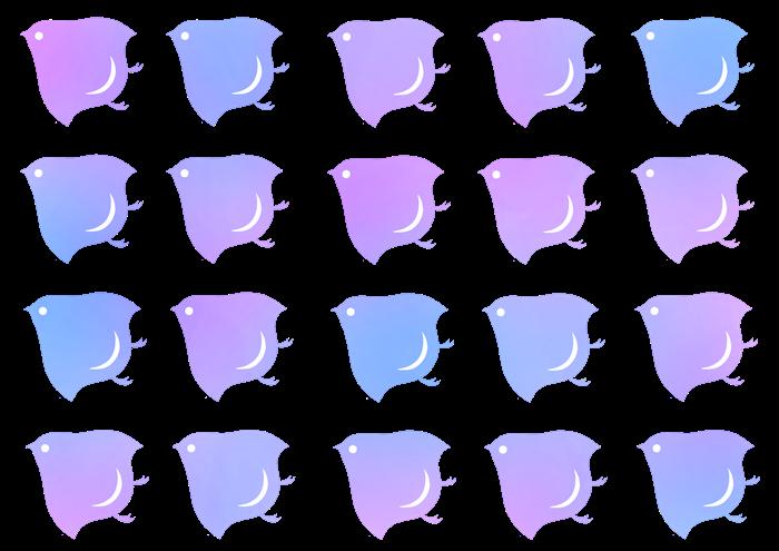 水色と紫色の千鳥紋の素材