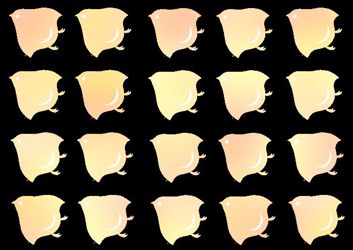 黄色とオレンジ色の千鳥紋の素材