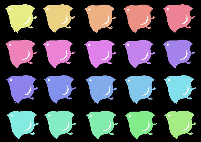 カラフルな千鳥紋の粗材