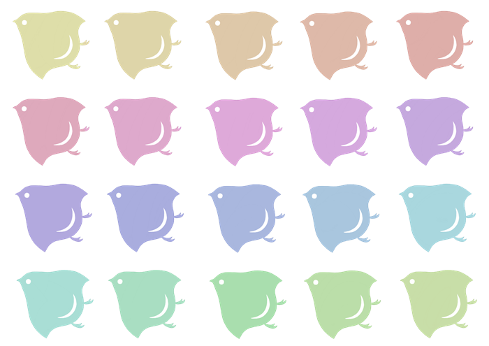 千鳥紋のイラスト素材