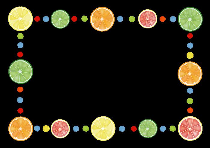 柑橘類のフレーム素材
