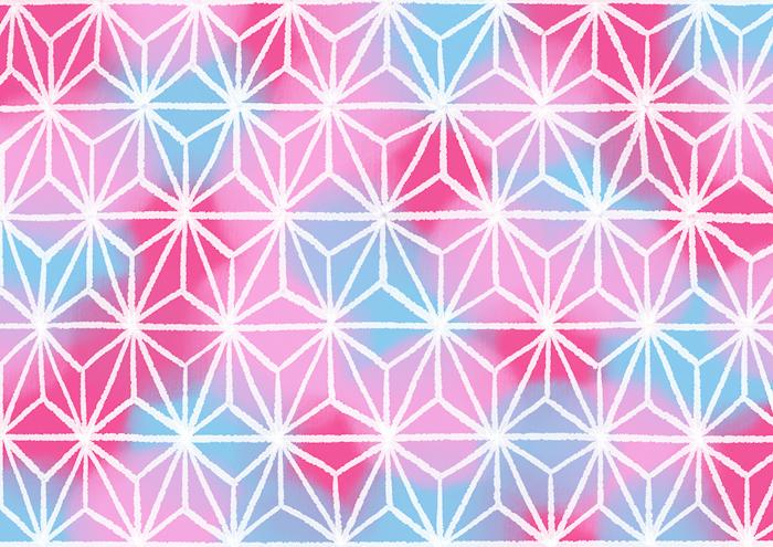 麻の葉のイラスト素材