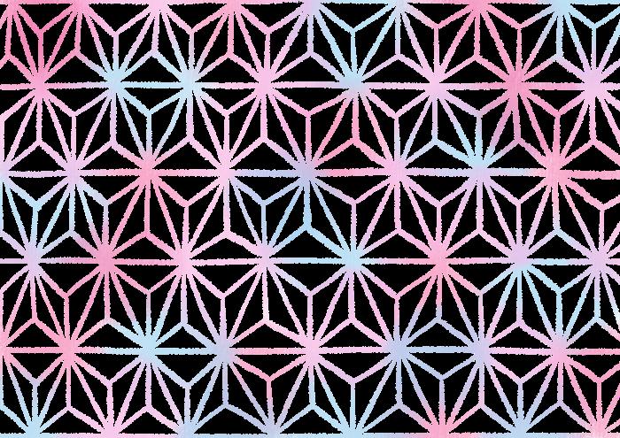 手描きの麻の葉の素材