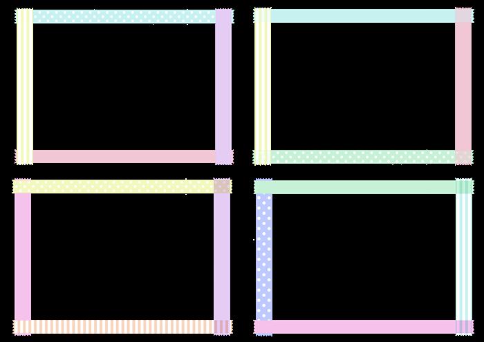 マスキングテープのフレーム素材セット