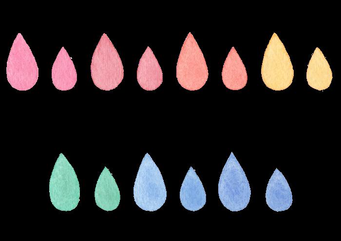 雫の水彩素材