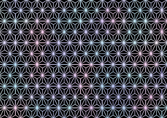 麻の葉の素材