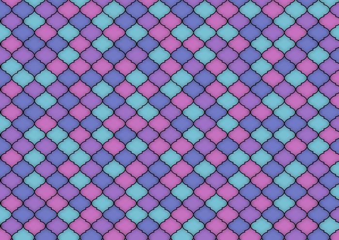 モロッカンタイルのイラスト素材