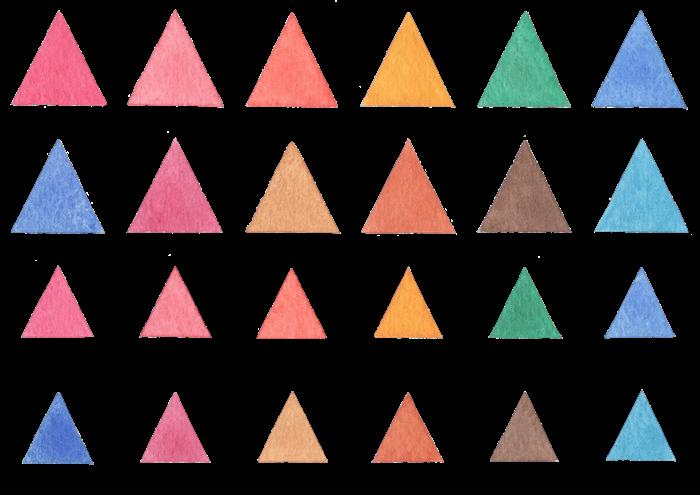 三角の水彩イラスト素材
