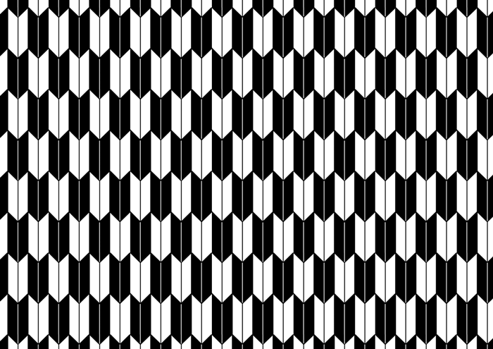 矢絣の線画素材