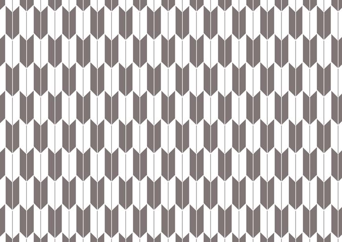 白の矢絣の線画素材