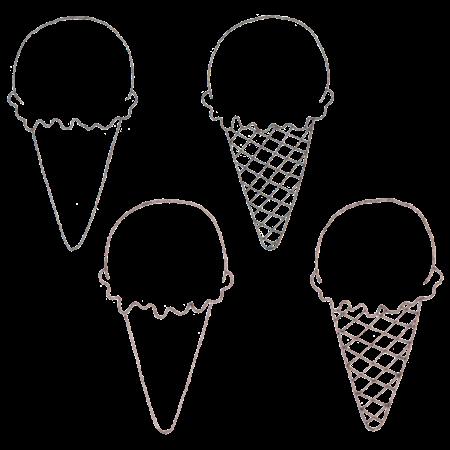 アイスクリームの線画素材