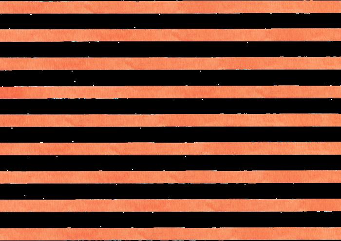 オレンジ色のボーダー水彩素材