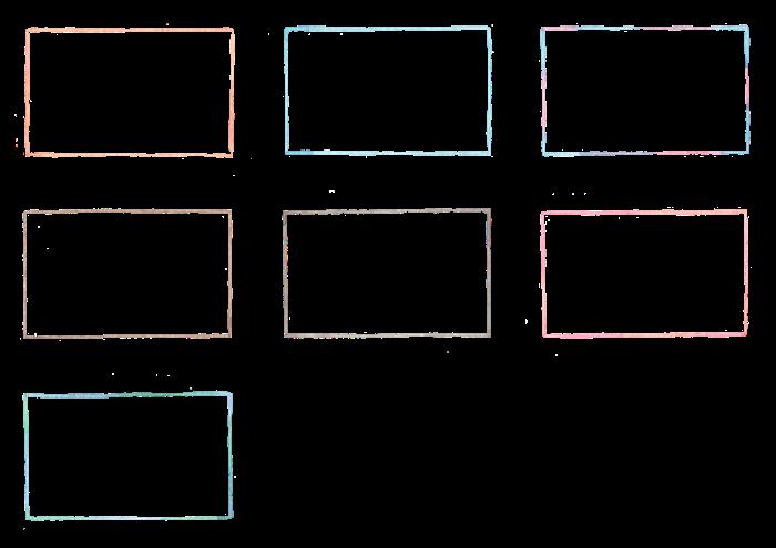 フレームの水彩イラスト素材