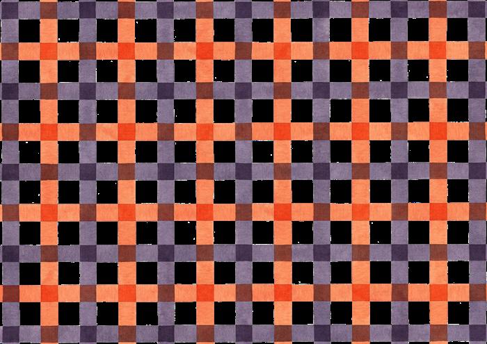 ハロウィンカラーのギンガムチェックの水彩素材