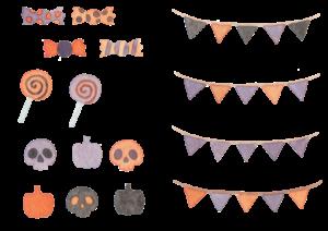 ハロウィンの水彩イラスト素材