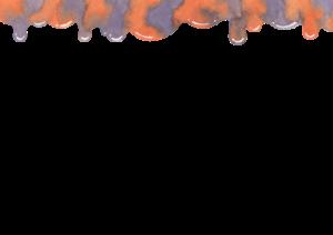 ハロウィンの水彩素材