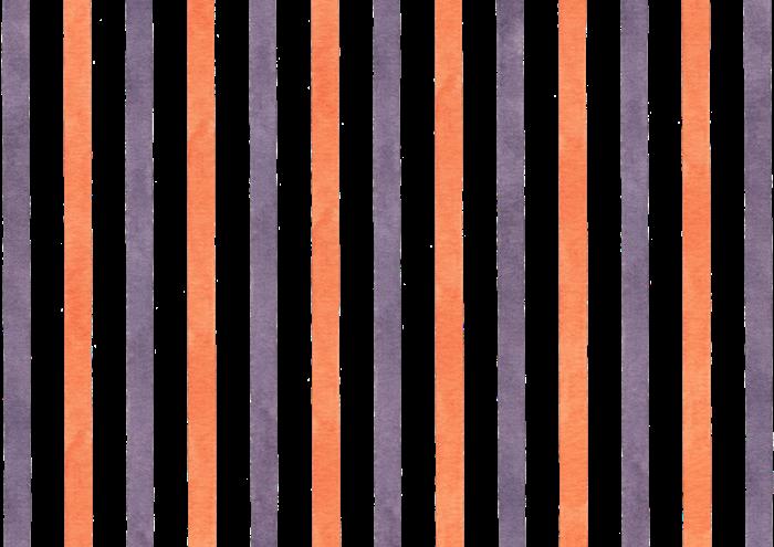 ハロウィンカラーのストライプの水彩素材