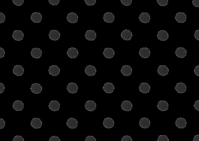 黒の水玉の水彩イラスト素材