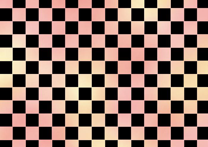 ピンクの市松模様の素材