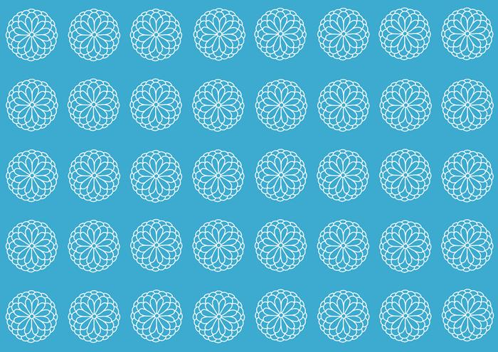 菊の白の線画素材