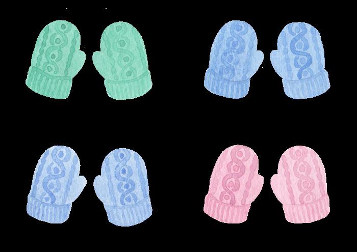 手袋の水彩イラスト素材