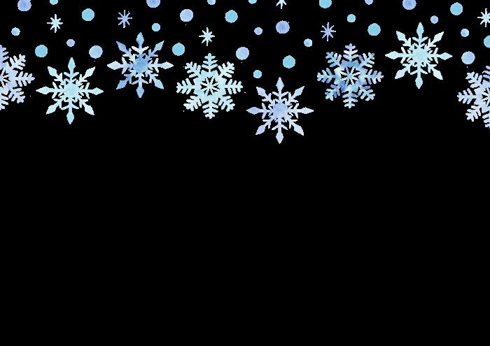 雪の結晶の水彩イラスト素材