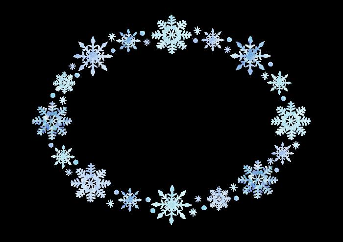 雪の結晶のフレームイラスト素材