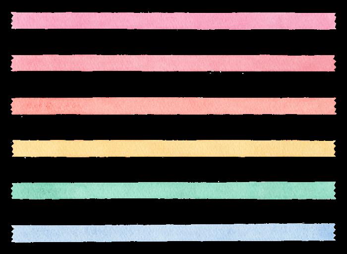 マスキングテープの水彩イラスト素材