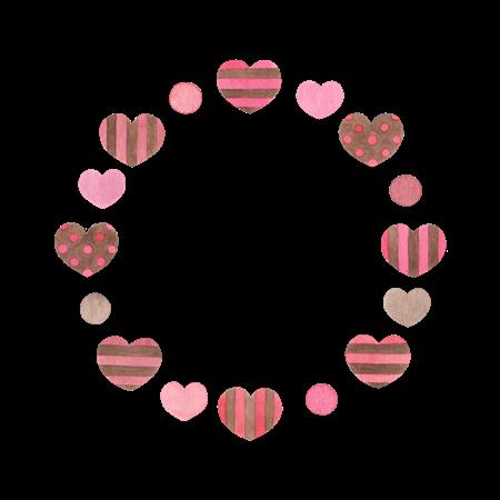 バレンタインのハートのフレーム素材