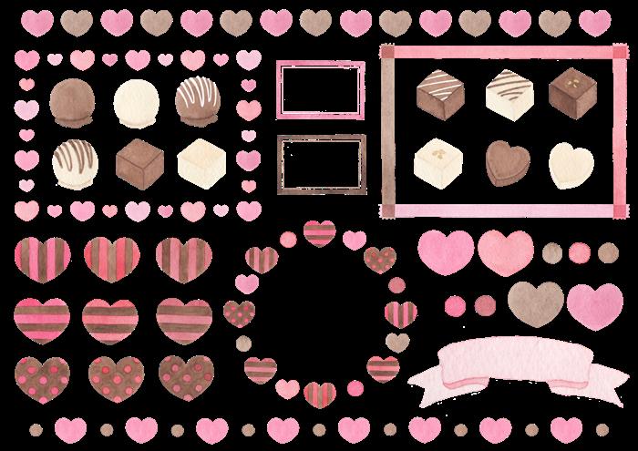 バレンタインのイラスト素材