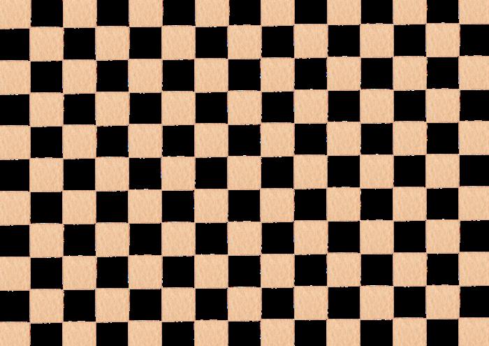 ベージュの市松模様の水彩イラスト素材