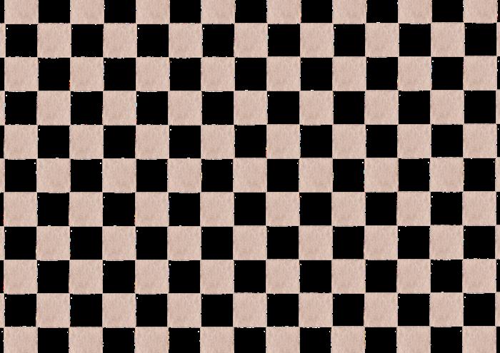 ベージュの市松模様のイラスト素材
