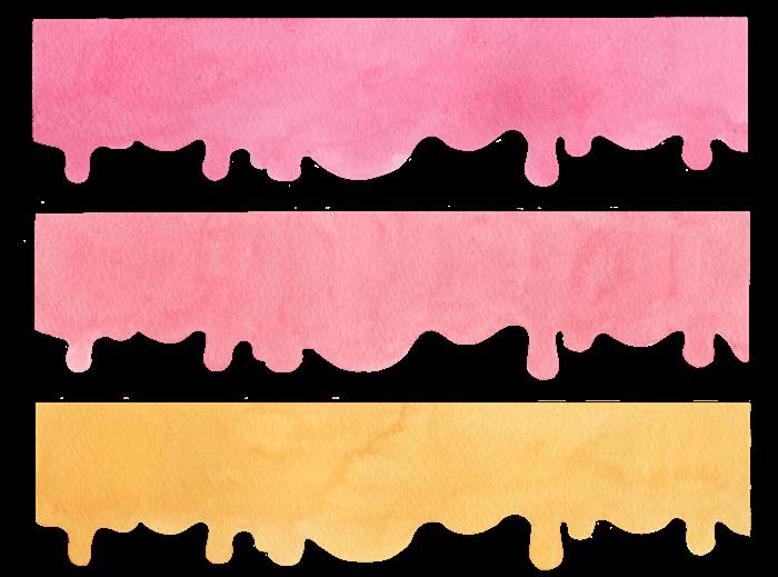 液だれの水彩イラスト素材