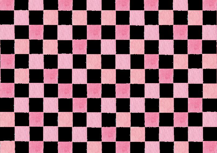 ピンクの市松模様のイラスト素材