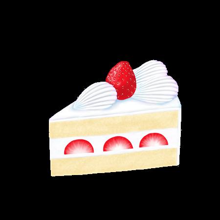 ショートケーキのイラスト素材