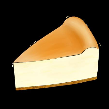 ベイクドチーズケーキのイラスト素材