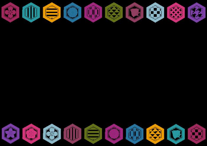 亀甲模様のイラスト素材