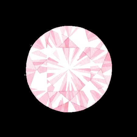 ピンクの宝石の水彩イラスト素材