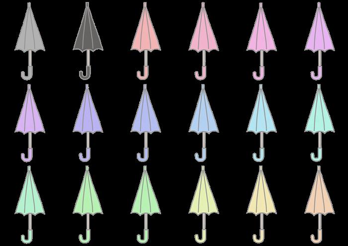 傘のイラスト素材