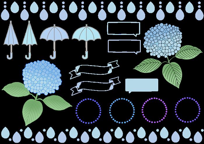 梅雨のイラスト素材