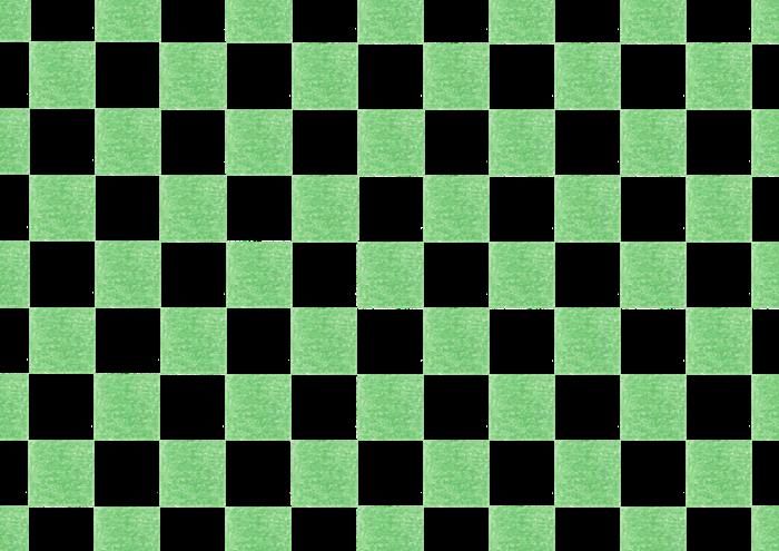 緑色の市松模様の素材