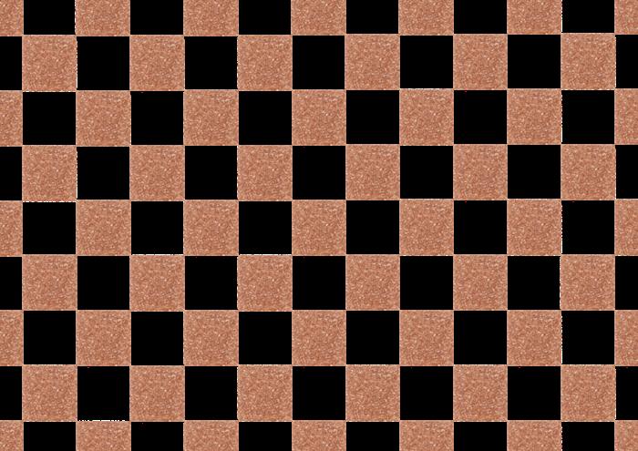 茶色の市松模様の素材