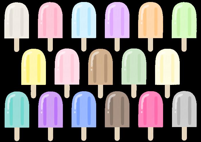 アイスキャンディのイラスト素材