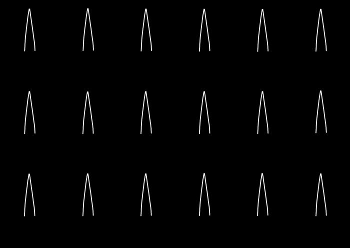 傘の線画素材