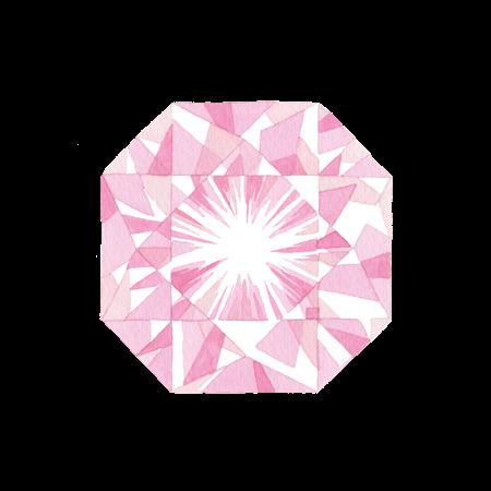 ピンクの宝石のイラスト素材